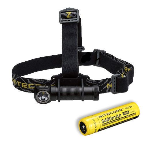 Nitecore HC30W XM-L2 LED Headlamp 1000Lm w  NL189 Rechargeable 18650 Battery