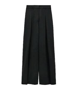 Black pleated palazzo trousershigh waistsize 10