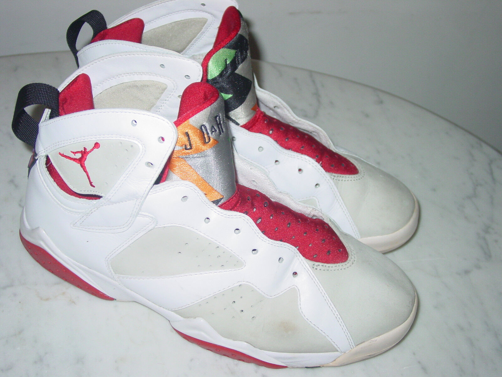 new style b35ff c9742 2007 Nike Air Jordan Retro 7 7 7 Countdown Pack White shoes Size 10.5 Sold  As