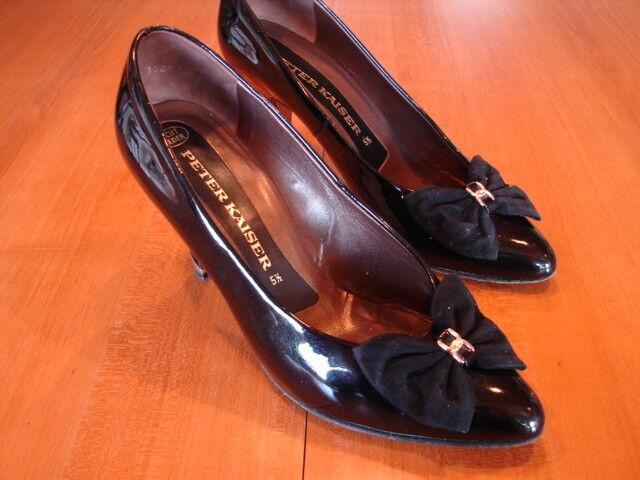 Da Kaiser Donna Pumps Peter Kaiser Da MIS. de 38.5 pelle verniciata nero f1aa67