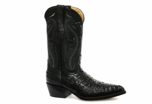 New Grinders Womens Indiana Black Real Leather Cowboy Western Mid Calf Toe Boots
