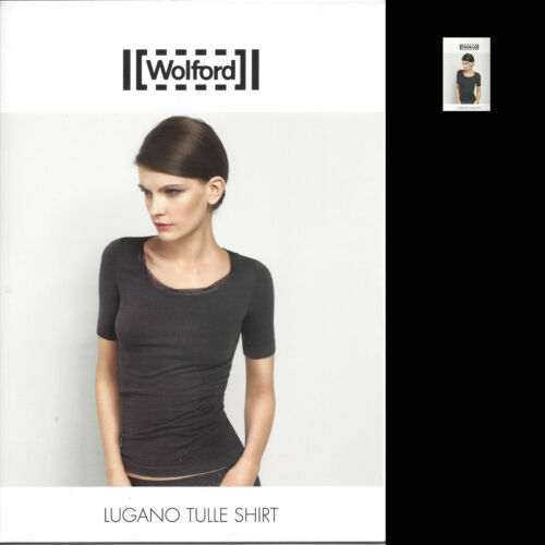 ShirtL Lugano Tulle Kurzarm shirt Wolford SchwarzBlackKlassisches N0wvmn8O