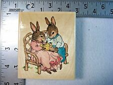 Uptown Rubber Stamps Holly Pond Hill Our New Baby Bunny Rabbits