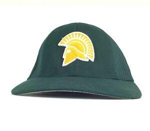 2841b6a5ab144 Spartans Football Green Baseball Cap Hat Flex Fit Sm-Med Adult Size ...