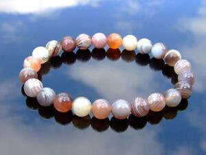Botswana Agate Natural Gemstone Bracelet 6-9'' Elasticated Healing Stone Chakra