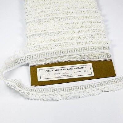 36 Metres × 10mm Wide Vintage Brown Daisy Applique Cotton Lace Trim