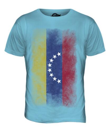 VENEZUELA FADED FLAG MENS T-SHIRT TEE TOP VENEZUELAN SHIRT FOOTBALL JERSEY GIFT