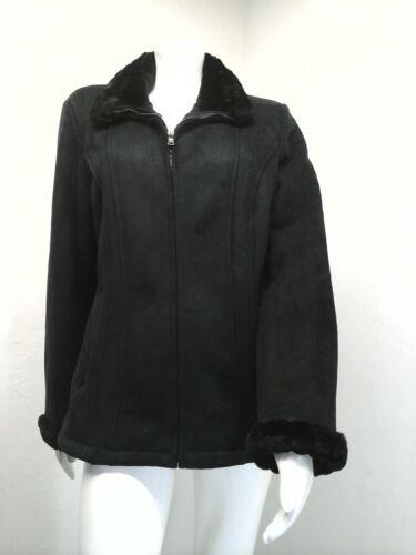 Størrelse Coat M barrow Fur Og Black Suede Women's Croft Faux ZHqUOfEnwx
