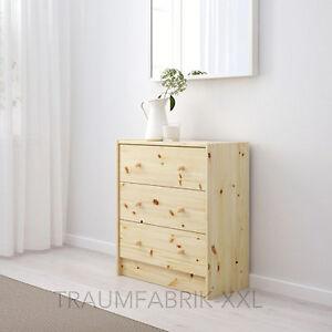 ikea rast kommode mit 3 schubladen kiefer massivholz schrank kleiderschrank neu ebay. Black Bedroom Furniture Sets. Home Design Ideas