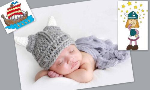 ★★★NEU Baby Fotoshooting Kostüm Kleiner Wikinger 6-24 Monate ★★★Nr.R