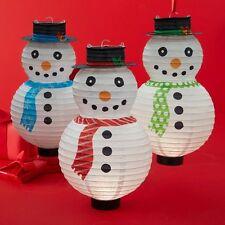 Frosty Snowman Led Lantern ~ Snowman Paper Lantern