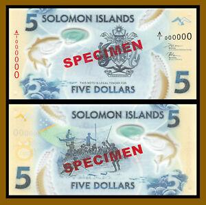 Solomon Islands 5 Dollars, 2018 P-New Specimen  40 Years Polymer Unc