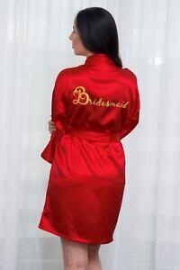 534c80f3c8 PERSONALIZED BRIDAL PARTY Women s SILK Kimono Robes Bathrobe Bride ...