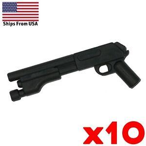 LEGO-Guns-Short-Shotgun-Lot-of-10-Army-Military-Police-SWAT-Black-Weapon-Pack