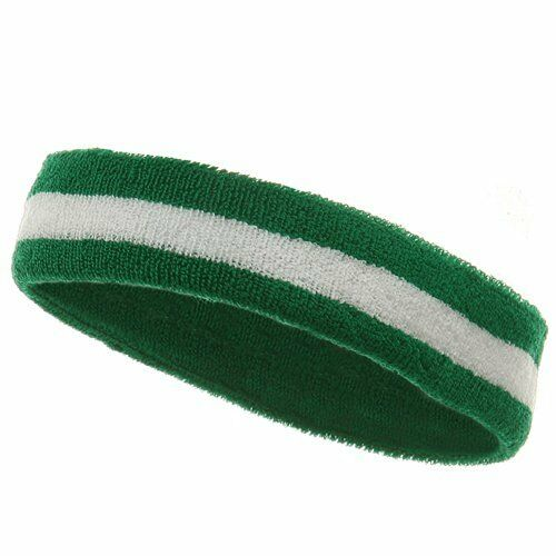MG Striped Cotton Terry Cloth Moisture Wicking Head Band