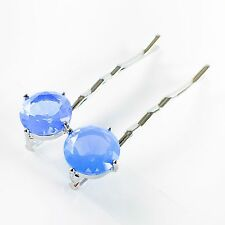 USA Bobby Pin Hair Clip use Swarovski Crystal Hairpin Elegant Jelly Blue Y05
