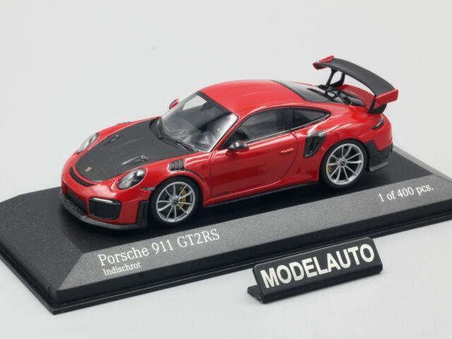 Minichamps 1:43-41 991 II indischrot Porsche 911 GT2 RS Weissach Paket