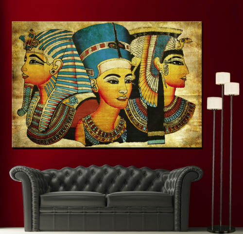 Canvas Old Egyptian Papyrus Decor Fine Home Wall Art Prints Colorful Print 2 13