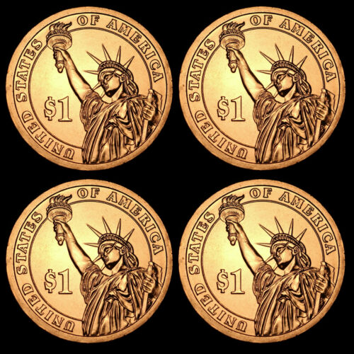 2012 P+D Benjamin Harrison ~ Pos A+B ~ From US Mint Sets ~ Four Coins