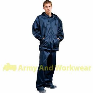 Pvc rain suit 100 water proof jacket trouser for Mens fishing rain gear