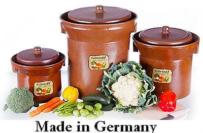 1 Gärtopfset / Sauerkrauttopf  5  Ltr.; Fermenting Pot ; Original Harsch Crock
