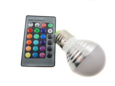 RGB E27 E14 GU10 MR16 16 Color Changing LED Light Bulb Lamp With IR Controller
