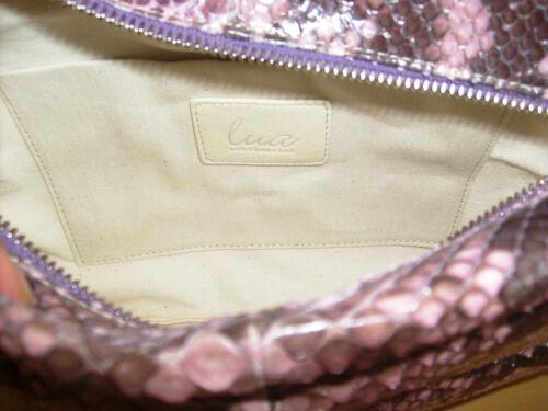 Neu  Lua Handtasche Clutch hand bag sac à main Echtleder mit Python-Prägung
