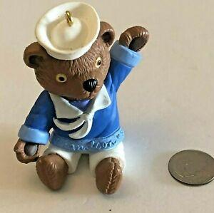 Hallmark-Keepsake-1998-Grandson-Sailor-Teddy-Bear-Christmas-Ornament-Vintage