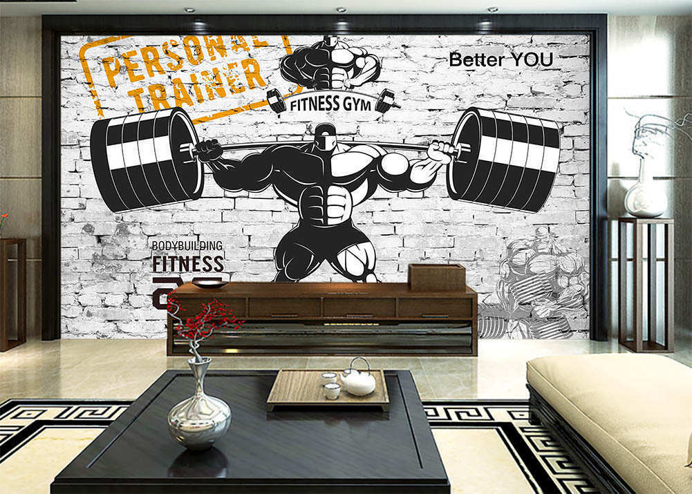 Weightlift Athletes 3D Full Wall Mural Photo Wallpaper Printing Home Kids Decor