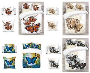 UK-Made-3D-Mariposa-Arte-Foto-Impresion-cubierta-del-edredon-edredon-o-manta-o-Cojin