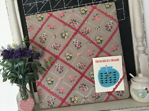 Message-Notice-Memo-Board-Home-Office-kitchen-Pinboard-Push-Pin-floral-fabric