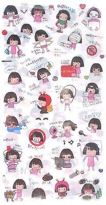 Korean Sports Girl Transparent Sticker Sheet Set~KAWAII!!