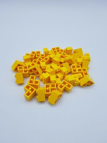 YELLOW  REF 2357 LEGO LOT 40 X  BRIQUE CORNER 1X2X2 JAUNE 235724 *NEUF*