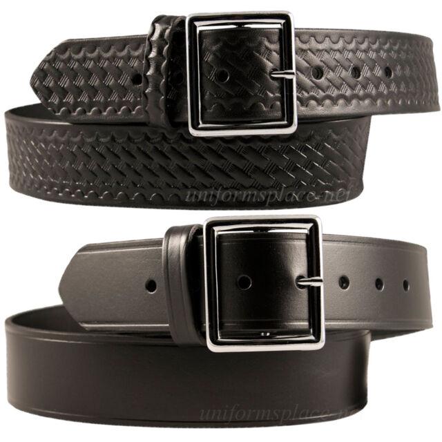 "Garrison Belt Black or Silver Buckle SIZE 44/"" Heavy 10oz Leather 1 3//4/"""