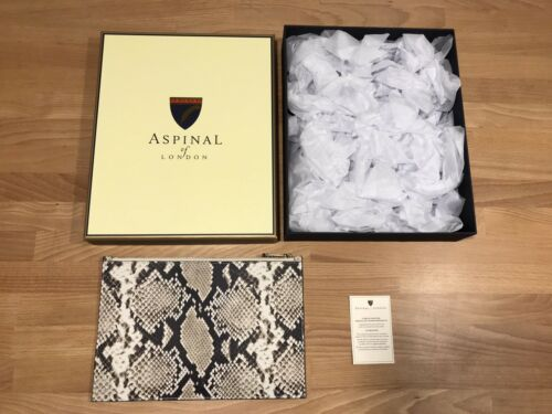 Only £69.90! New Aspinal Of London Large Snake Print Leather Pouch Purse