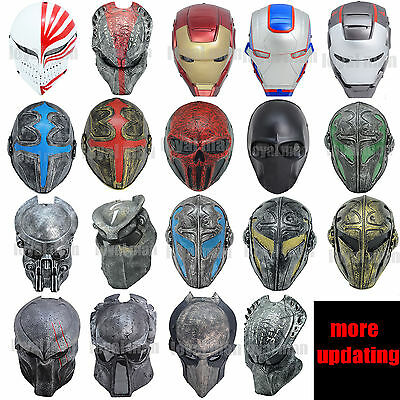 Different Mask Full Face Protection Outdoor Paintball Airsoft outdoor cs Mask UK