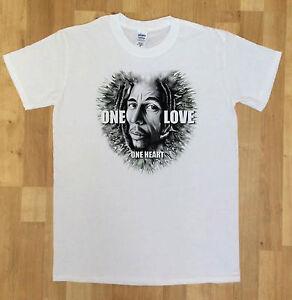 541dad825a La foto se está cargando Para-hombre-reggae-leyenda-un-Amor-Rasta-Camiseta-