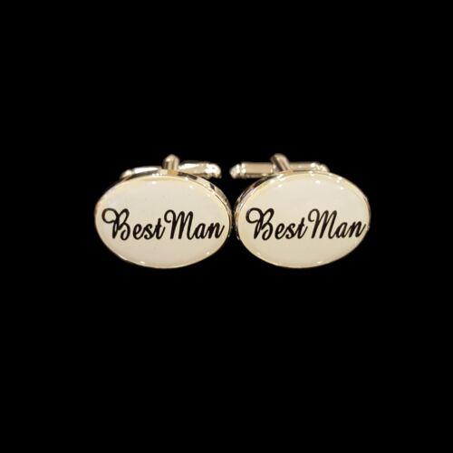 SILVER IVORY OVAL Mens Wedding Cufflinks Cuff Link Groom Best Man Usher Set Page