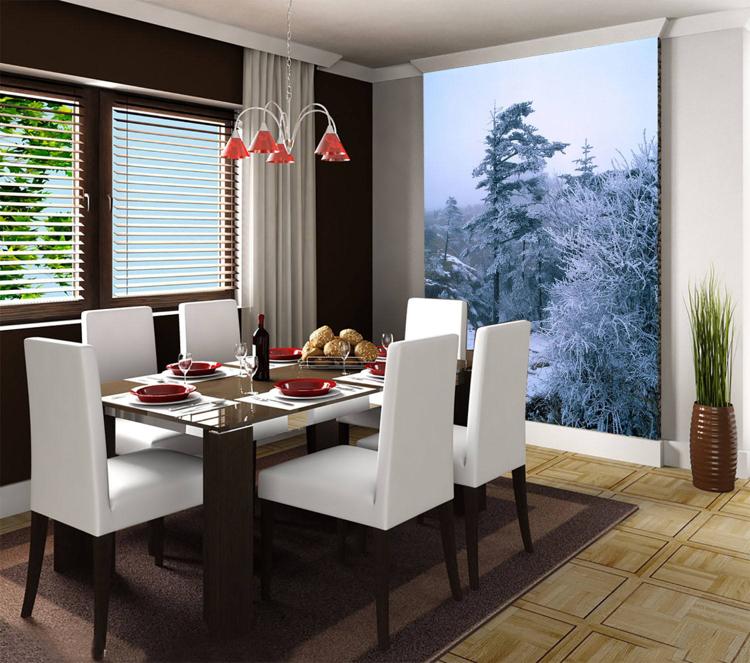 3D Snowcapped Mountains 30 Wall Paper Wall Print Decal Wall AJ Wall Paper