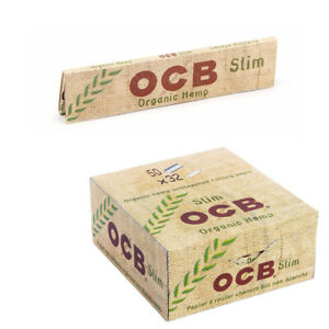 OCB Organic Hemp Rolling Papers Unbleached Kingsize Slim Premium Roller