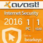Avast Internet Security 2017 - [1 PC] [1 Anno] Versione Completa - Licenza