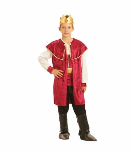 BOYS ROYAL KING PRINCE TUDOR MEDIEVAL FANCY DRESS COSTUME