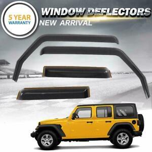 Side Window Deflectors Ventvisor Visor for 2018 2019 Jeep Wrangler JL 4-Door