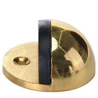 Metal Oval Door Stop Door Stopper Floor Doorstop Rubber Interior Holder MW
