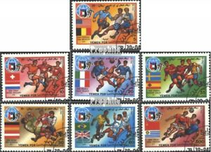 south-yemen-466-472-complete-issue-used-1990-Football-WM-90