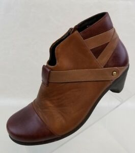 Naot-Ankle-Boots-Straps-Zip-Womens-Brown-Tan-Leather-Shoes-Size-EU-36-US-5-5