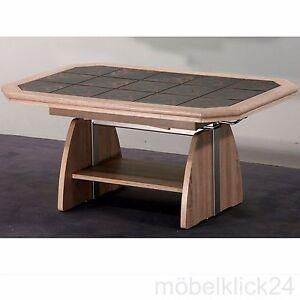 Couchtisch kt0033 lifttisch mit kacheln buche eiche - Couchtisch mit kacheln ...