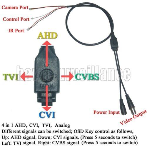 """CUT 2MP3.6m Lens AHD HD 720P 1.0mp 1//4/""""  4in1  CCTV Board Camera  OSD Menu IR"""
