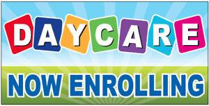 daycare now enrolling vinyl banner sign 2x4 ft bgb 722134368121 ebay