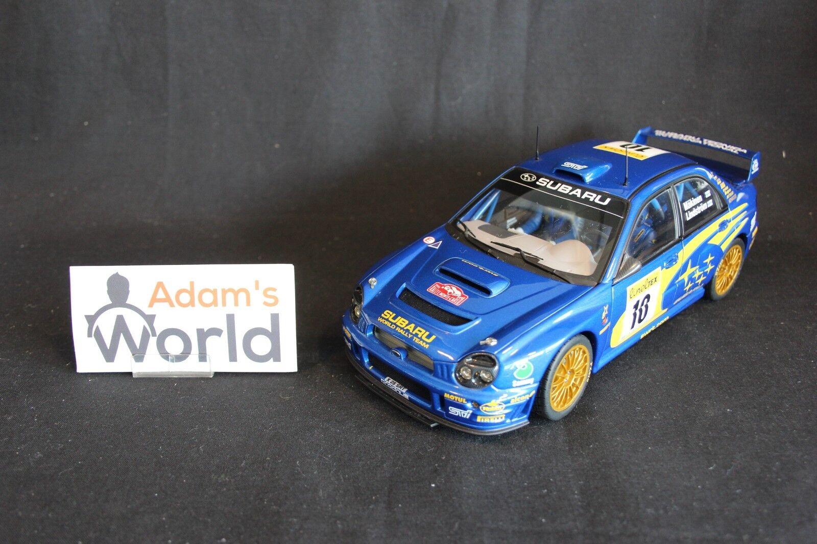 economico e di alta qualità AutoArt Subaru Impreza S7 WRC WRC WRC '01 1 18  10 Mäkinen   Lindström MC (JvdM) fig.  con il prezzo economico per ottenere la migliore marca
